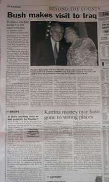 [photo of FEMA fraud article as printed in The Union]